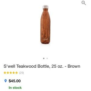S'well Other - NEW S'well Teak Wood Water Bottle 25oz